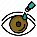 dropper, dry, eye, problems, redness, sight, syndrome icon