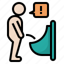 cancer, nocturia, painful, problem, prostate, sign, urination icon