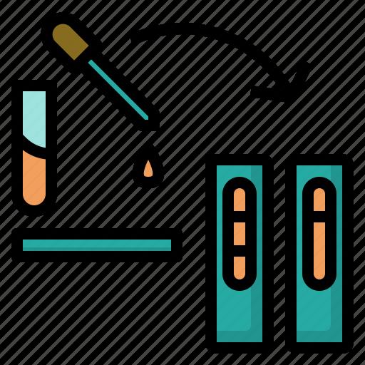antigen, check, laboratory, medical, strip, test, vet icon