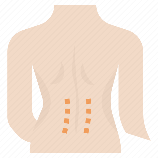 acupuncture, back, line, lower, office, pain, syndrome icon
