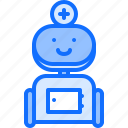 assistant, doctor, equipment, medical, medicine, robot, technology icon