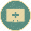healthcare, online medical help icon