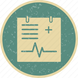 medical document, medical record, medical report icon