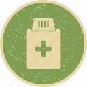 drugs, medicine bottle, pills icon