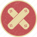 aid, aidband, band, emergency, medical, safe, secure icon