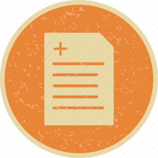 medical document, medical file, medical report icon