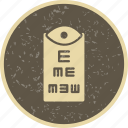 eye, eye test, medical, optometrist icon