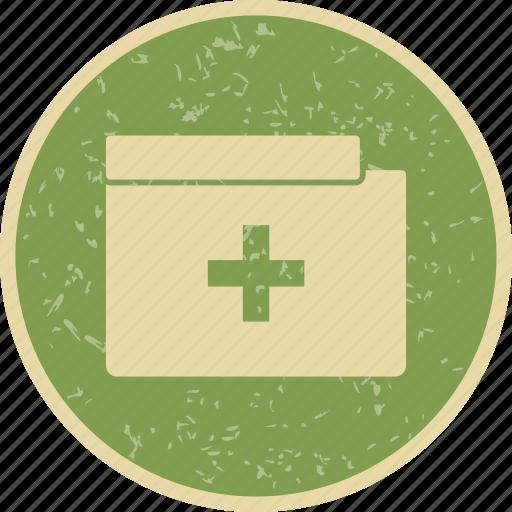 folder, medical file, medical folder icon