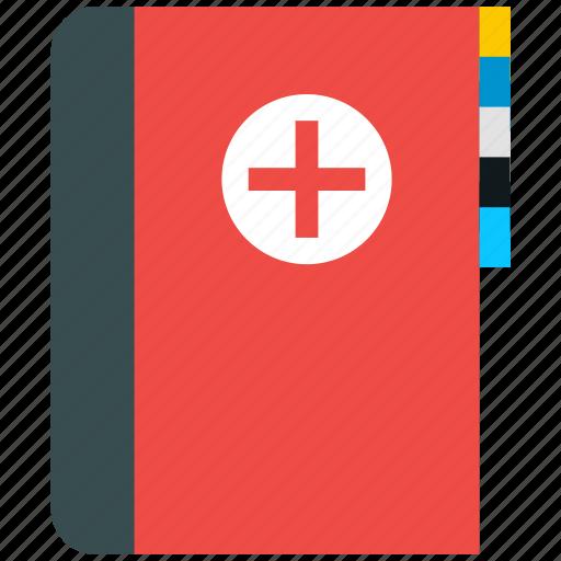 book, health, healthcare, medical icon