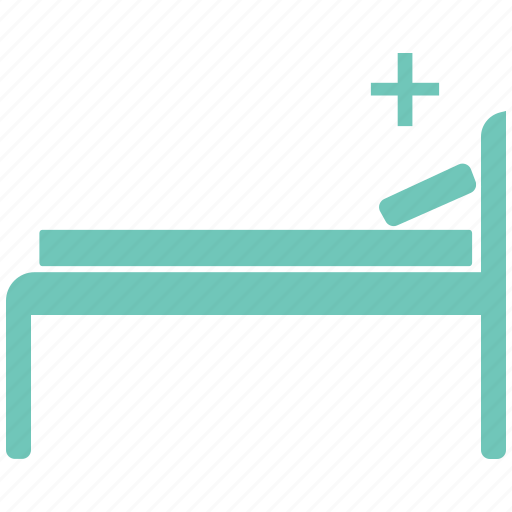 hospital, patient, patient bed icon