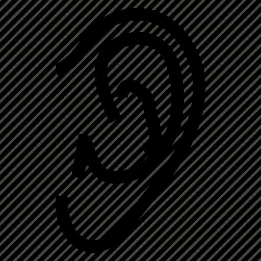 ear, organ, otorhinolaryngologist, otorhinolaryngology icon