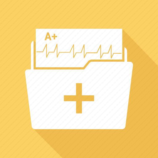 folder, medical, medical documents icon