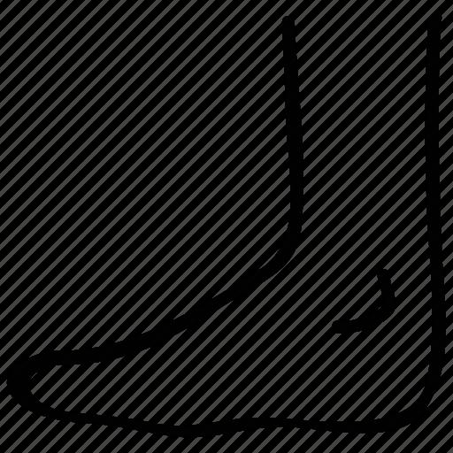foot, human feet, medical, x-ray icon