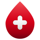 blood, drop, no, shadow icon