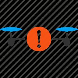 alarm, alert, attention, danger, drone, problem, quadcopter icon