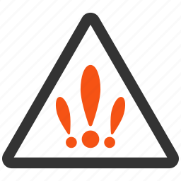 alarm, alert, danger, error, exclamation, multiple problems, warning icon