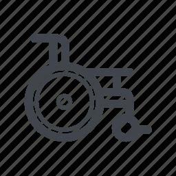 healthcare, medicine, wheelchair icon