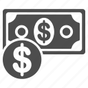 banknote, business, cash, coin, currency, dollar, finance icon