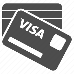 banking cards, credit card, finance, payment, sales, shopping, visa icon
