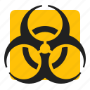 biohazard, medical, sign, warning icon