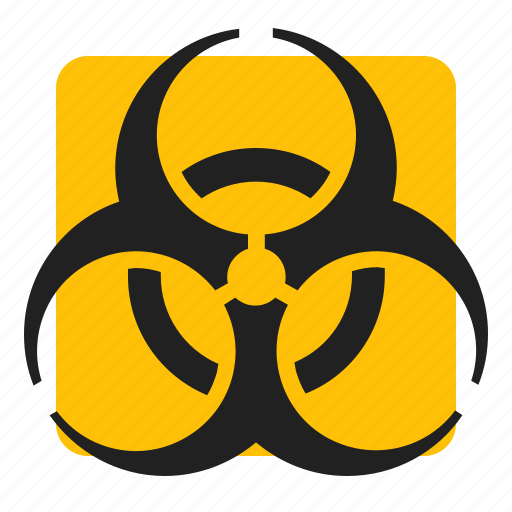 biohazard, medical, sign, warning icon