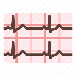 cardiogram, ecg, medical, pulse icon