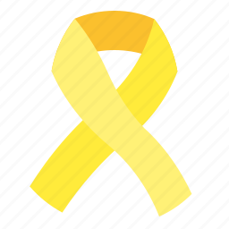 care, endometriosis, ribbon, yellow icon