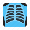 fluorography, medical, medicine, snap, thorax icon