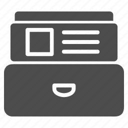 accounts, archive, card index, data, database, document, records icon
