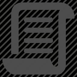 conclusion, data, document, file, note, paper, script icon