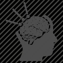 anatomy, brain, head, human, mind, operation, surgery icon
