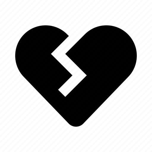 broken, heart, like, love, romance, valentine icon