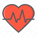 cardiology, ekg, heart, heartbeat, medical, medicine, pulse icon