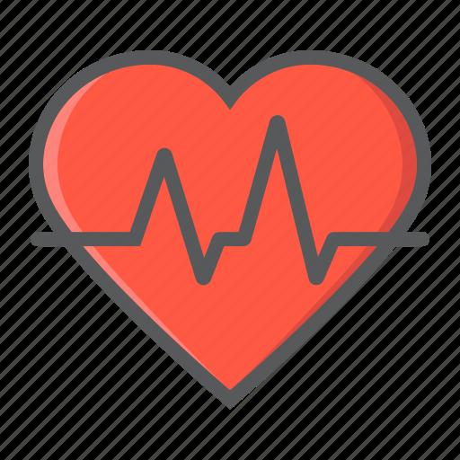 cardiology, ekg, heart, heartbeat, medical, medicine, pulse icon
