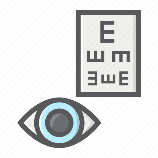 correction, exam, eye, healthcare, medicine, optometry, test icon