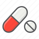 antibiotic, aspirin, capsule, drug, healthcare, medicine, pill icon