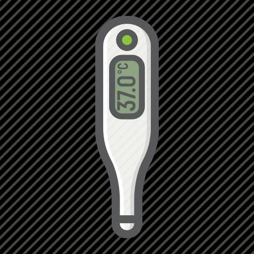 digital, healthcare, hospital, medical, medicine, temperature, thermometer icon