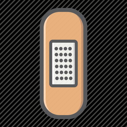 adhesive, bandage, emergency, healthcare, medical, medicine, plaster icon