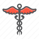 caduceus, healthcare, hospital, medical, medicine, pharmacy, snake icon