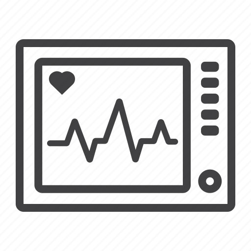 cardiology, ecg, ekg, healthcare, heartbeat, machine, medicine icon