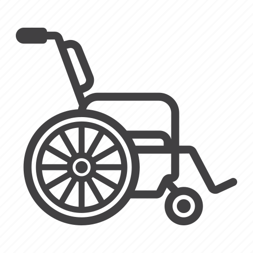 chair, disabled, handicapped, healthcare, medicine, wheel, wheelchair icon