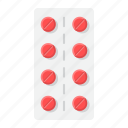 aspirin, healthcare, medical, medicine, pharmacy, pills, strip icon