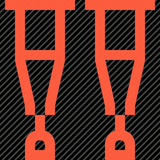 crutch, crutches, prop, rehab, rehabilitation, reliance, support icon