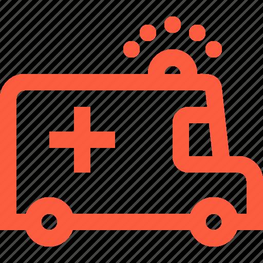 ambulance, car, emergency, medical, service, urgency, vehicle icon