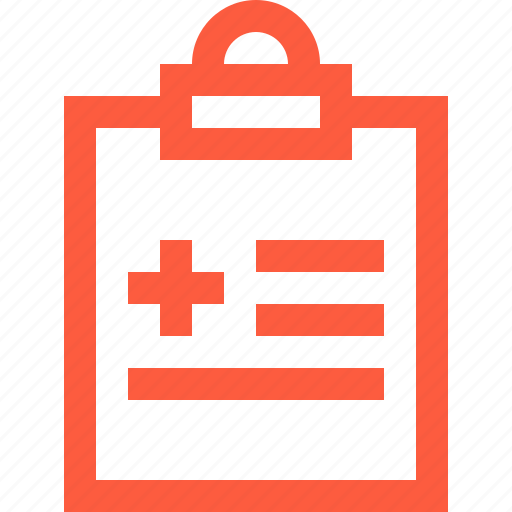 clipboard, diagnosis, document, folder, health, info, medical, patient icon
