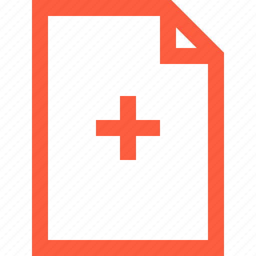add, doc, document, file, medical, medicine, new icon