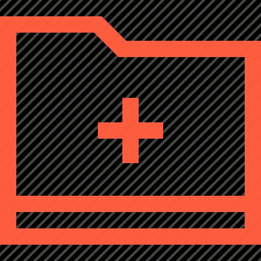 case, catalog, doc, document, file, folder, medical icon