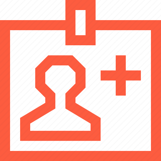 doctor, hospital, id, identity, information, medical, personnel, staff icon