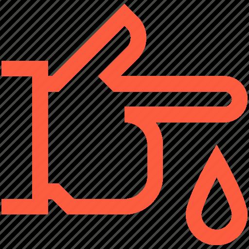 drop, healthcare, injury, medical, pain, trauma, wound icon