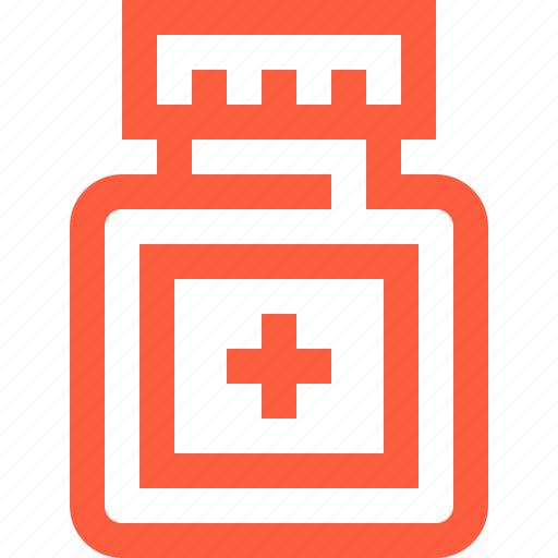 container, jar, medical, medicament, medicine, ointment, pills, syrup icon